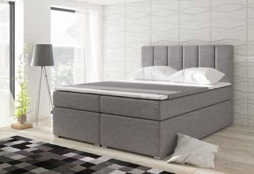 Kontinentální postel Boxspring MARIO šedá 180x200cm