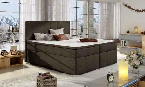 Kontinentální postel Boxspring MARIO tmavě hnědá 180x200cm