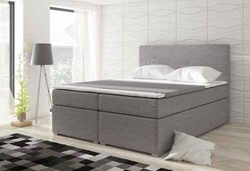Kontinentální postel Boxspring DIANA šedá 180x200cm