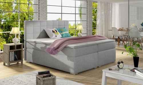 Kontinentální postel Boxspring LUCIE šedá 160x200cm