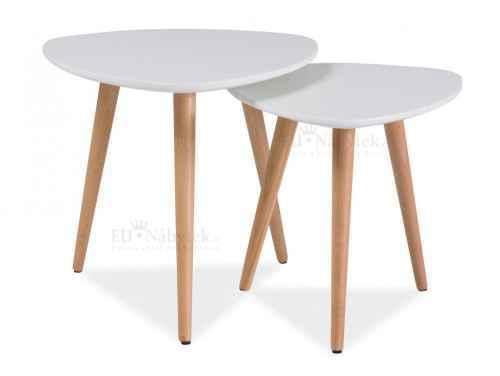 Konferenční stolky - komplet NOLAN A bílá/buk DOPRODEJ