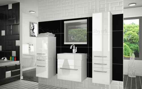 Koupelnová sestava RIOR PRO+ bílá / bílý lesk
