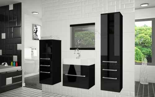 Koupelnová sestava RIOR PRO+ černá/ černý lesk
