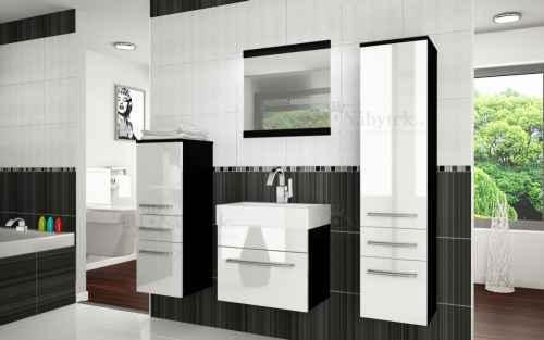 Koupelnová sestava RIOR PRO+ černá / bílá