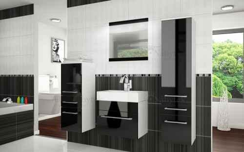 Koupelnová sestava RIOR PRO+ bílá / černá