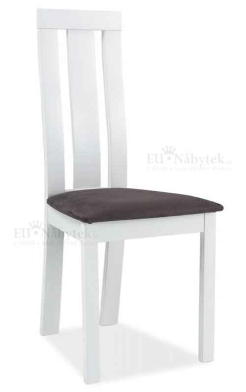 Jídelní čalouněná židle C-27 bílá/šedá