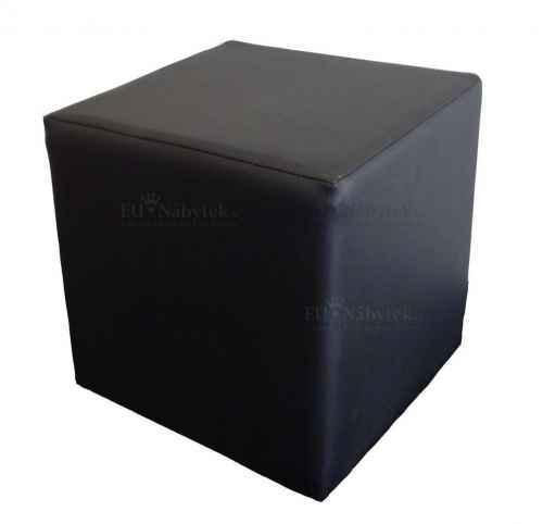 Taburet CUBE II ekokůže černá