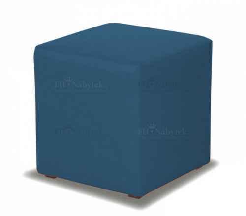 Taburet CUBE modrá látka
