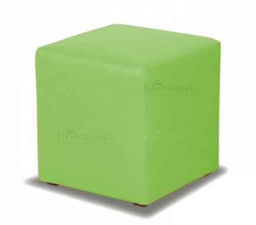 Taburet CUBE zelená látka