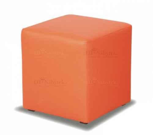 Taburet CUBE oranžová látka