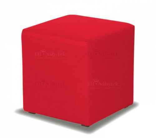 Taburet CUBE červená látka