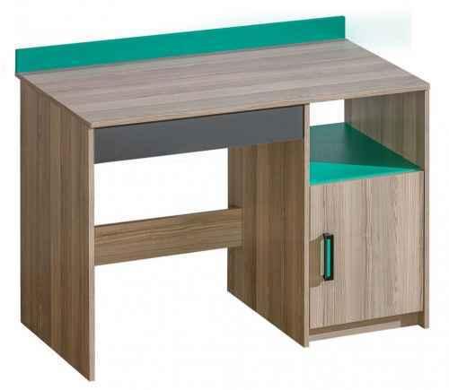 Psací stůl ULTTIMO U8 - dol-jasan-combria-tmavy-a-oranzova