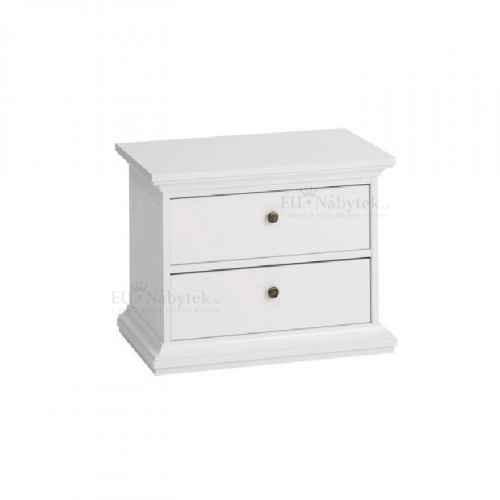 Noční stolek, bílá, PARIS 70301