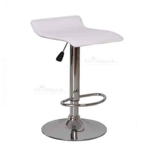 Barová židle, ekokůže bílá/chrom, LARIA