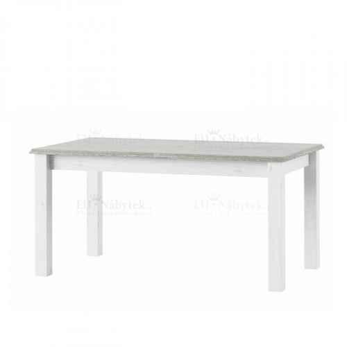 Rozkládací jídelní stůl, bílá, LIONA LM 88