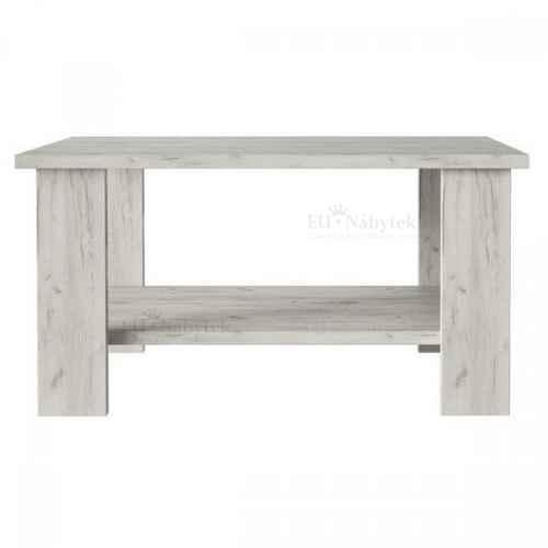 Konferenční stolek HANA dub craft bílý