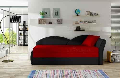 Rozkládací pohovka AGHATA černá / červená