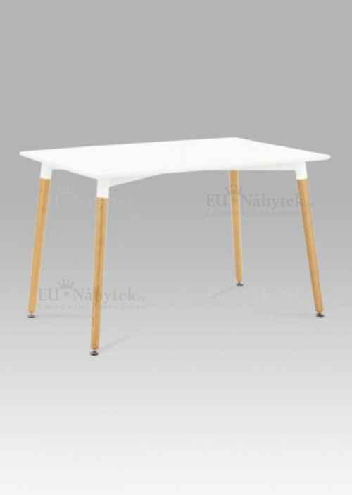 Jídelní stůl 120x80 cm, bílá / natural