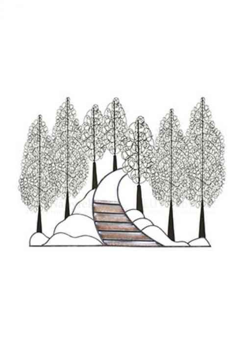Strom kovový nástěnný