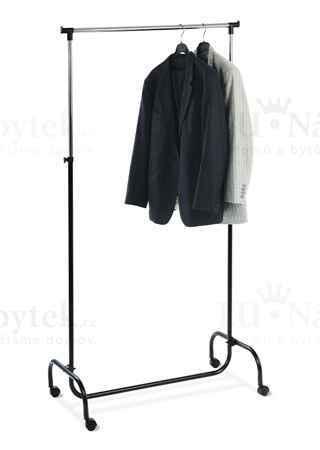 Stojan na šaty, v. 190 cm, chrom / černá