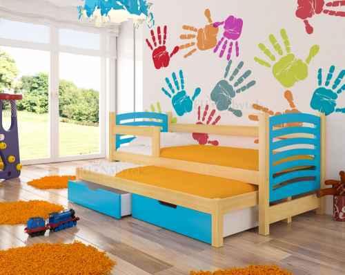 Dětská výsuvná postel VILLA modrá