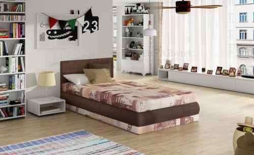Dětská postel KIRI s polohovacím roštem béžová