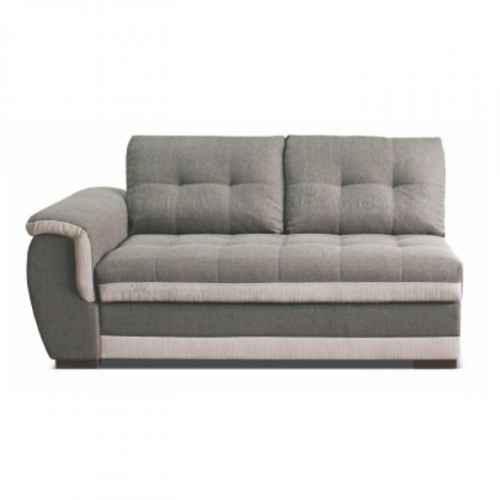 2-sed s úložným prostorem, tmavě šedá / krémová, levá, RUBA 2POJ + LB