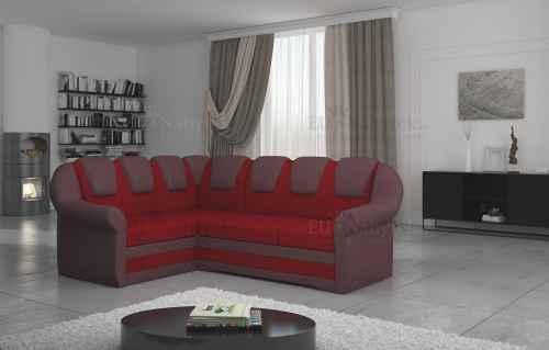 Rozkládací rohová sedačka LORDIE červená / vínová
