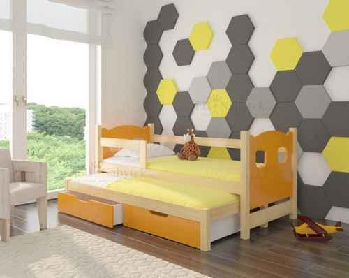 Dětská výsuvná postel CAMP oranžová