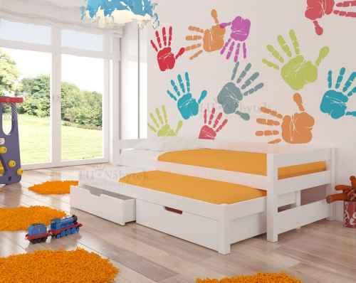 Dětská výsuvná postel RAGA bílá