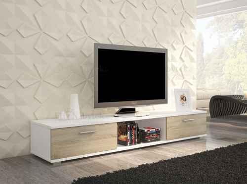 TV stolek SELIA bílá / sonoma