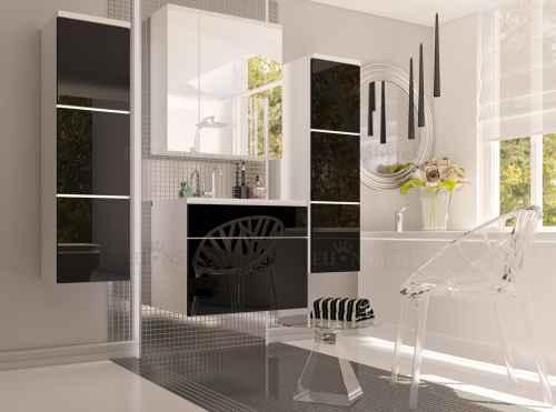 Koupelnová sestava OTO černá / bílá