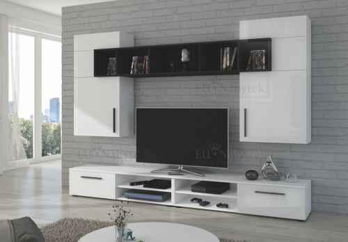 Obývací stěna MARIA bílá / černá