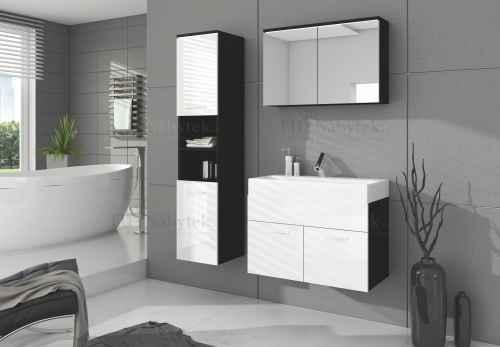 Koupelnová sestava BON bílá / černá