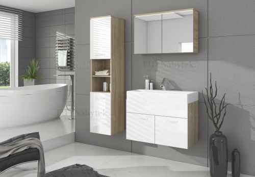 Koupelnová sestava BON dub sonoma / bílá