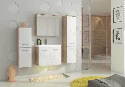 Koupelnová sestava MON bílá / dub sonoma