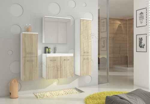 Koupelnová sestava MON dub sonoma / bílá