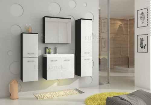Koupelnová sestava MON bílá / černá
