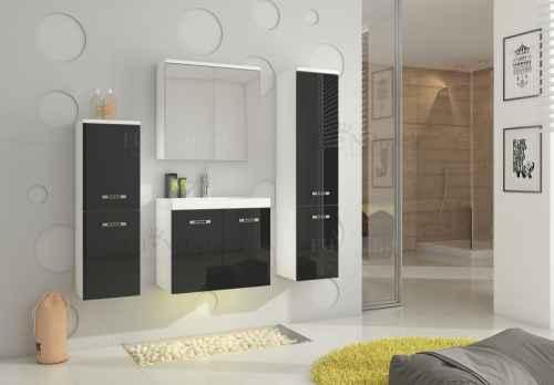 Koupelnová sestava MON černá lesk / bílá