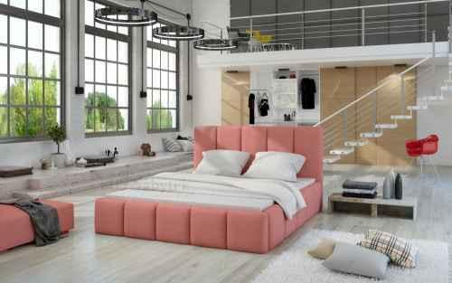 Čalouněná postel HEDVIKA růžová 140x200cm