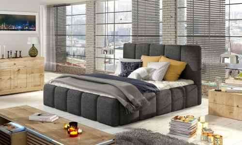 Čalouněná postel HEDVIKA tm.šedá 140x200cm
