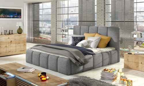 Čalouněná postel HEDVIKA šedá 160x200cm