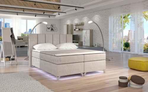 Kontinentální postel Boxspring BRAZIL béžová 180x200cm