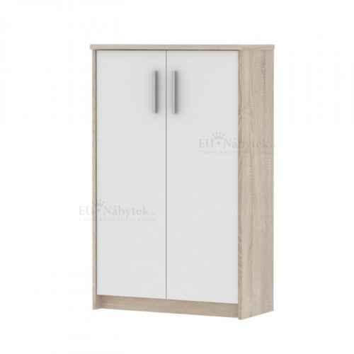 Kancelářská skříňka, dub sonoma / bílá, JOHAN NEW 13