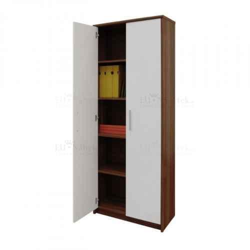 Kancelářská skříň, švestka / bílá, JOHAN NEW 05