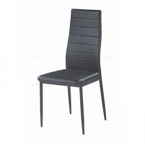 Židle, ekokůže černá / kov černá, COLETA NOVA