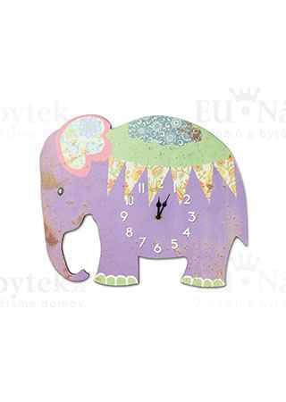 Hodiny nástěnné, tvar slon