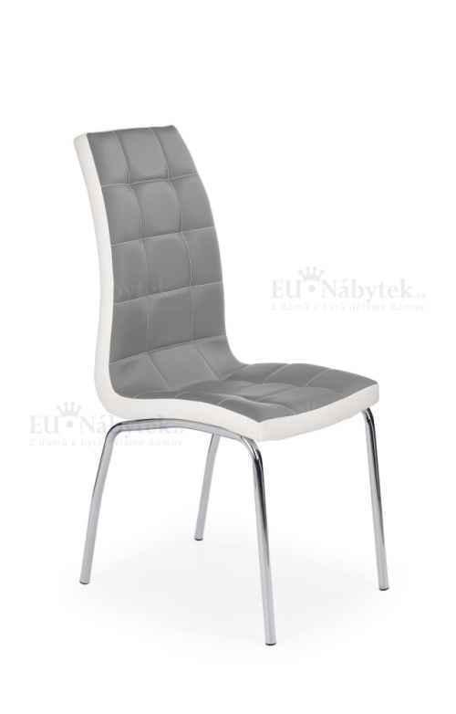 Jídelní židle k186 šedá/bílá