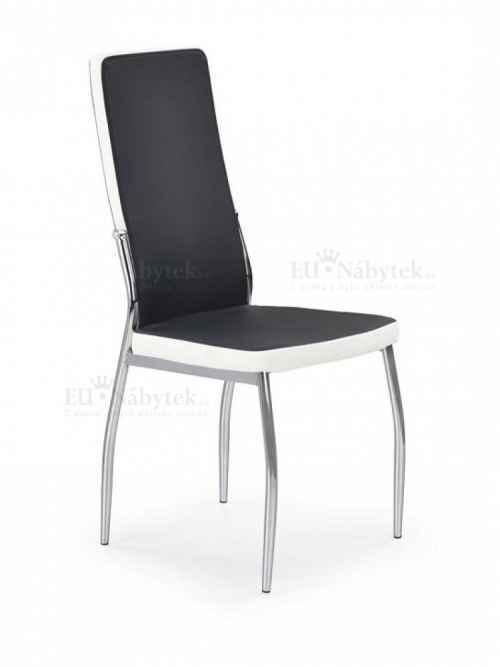 Jídelní židle k210 černá/bílá