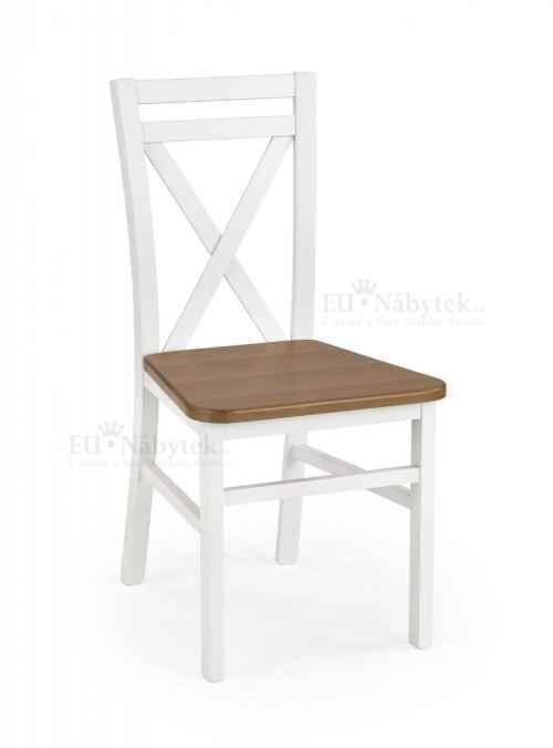 Jídelní židle DARIUSZ bílá/olše